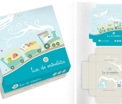 Diseño de caja p/ropa bebe - niño